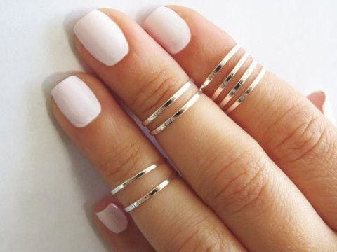 Sterling Silver Knuckle Ring - Ring