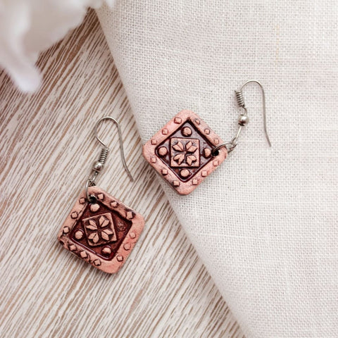 Ute Earrings Ceramic Pattern - Vasylchenko1