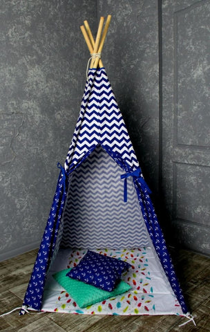 Teepee For Kids Marine Pattern - Toy