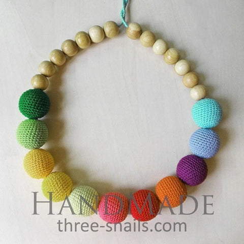 Teething Necklaces Colors Of Rainbow - Toy