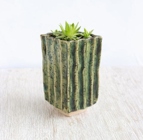 Texture Pot For Plants Shades Of Green - Plant Pot