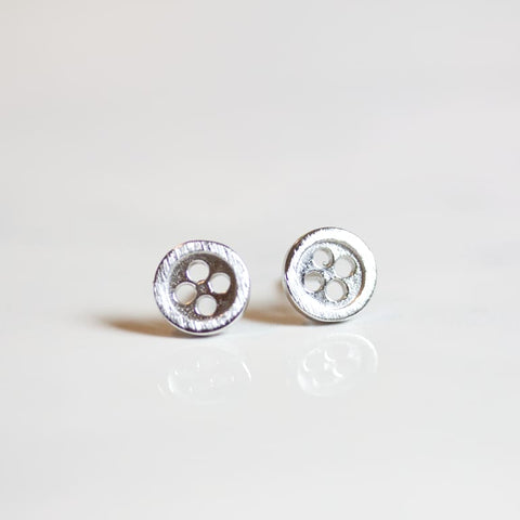 Tiny Silver Studs - Buttons - Earrings