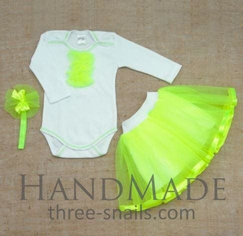 Tutu Set With Bodysuit Bright Star - Occasion Outfit