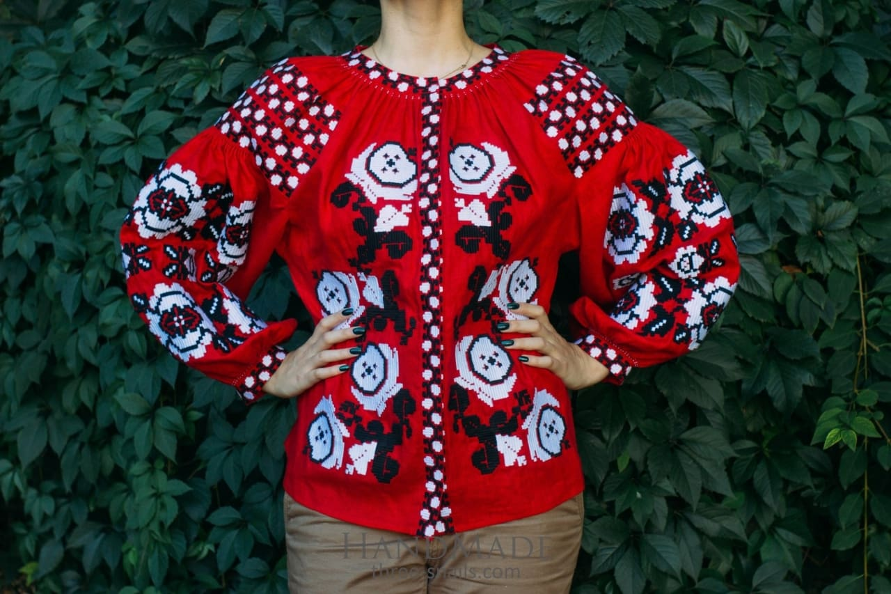 "Ukrainian clothing ""Red passion"" - 1"