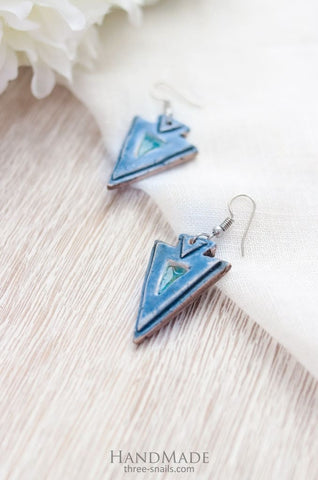 Unique Earrings Triangles - Vasylchenko1