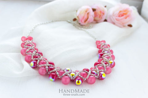 stylish beaded necklace