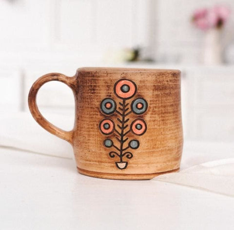 Unique Pottery Tea Cup The Tree Of Life  - Cup And Mug