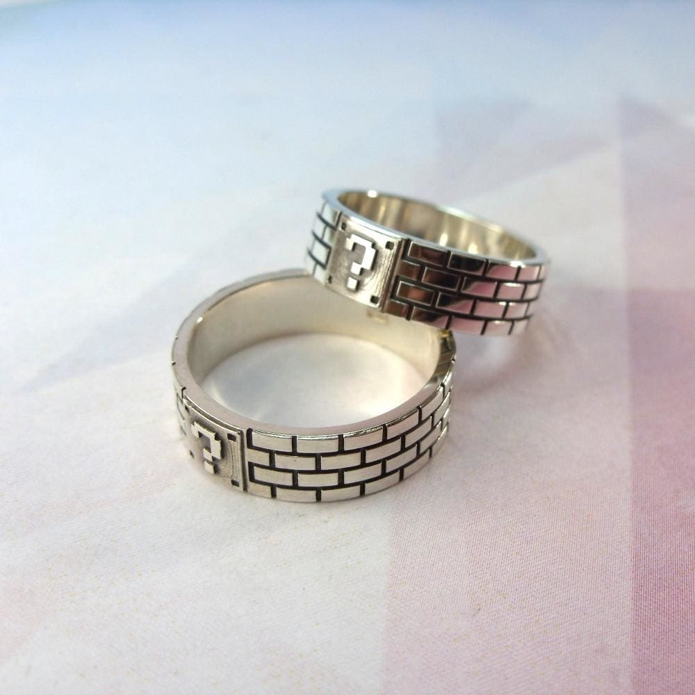 Unique silver mens ring. Hand carved ring - 1
