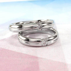 Unique Silver Rings. His And Her Promise Rings - Vasylchenko1