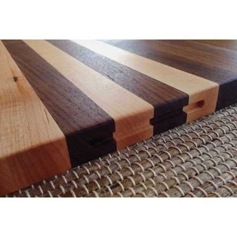 Walnut And Maple Grain Cutting Board - Cutting Board