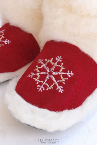 Warm Slippers Red Christmas Gift - Popovichenko