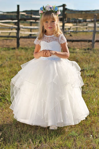 White Dress For Kids Festive Time - Occasion Dress