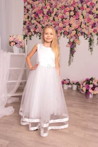 White Dresses For Kids Fancy - Occasion Dress