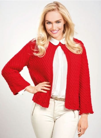 Women Red Cardigan - Vasylchenko1