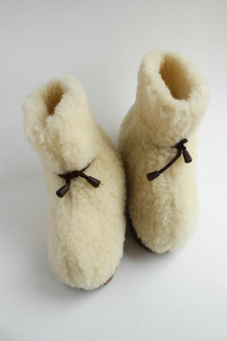 Womens Wool Slippers Home Coziness  - Vasylchenko1
