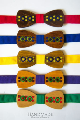 Wood Bow Tie Ethnic - Vasylchenko1
