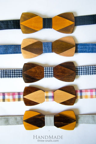 Wood Bow Tie Men - Vasylchenko1
