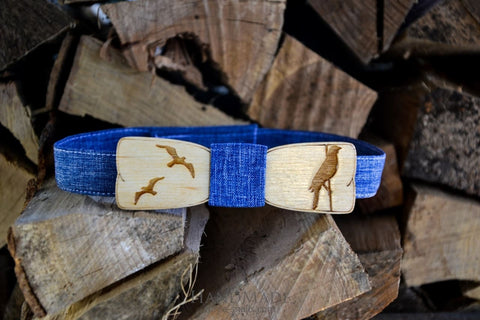 Wood Bow Tie Wedding - Blue / Us - Vasylchenko1