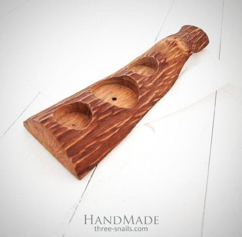 Wood Glass Holder Rustic Texture - Vasylchenko1