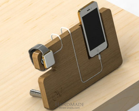 Wood Iphone Stand All In One - Vasylchenko1