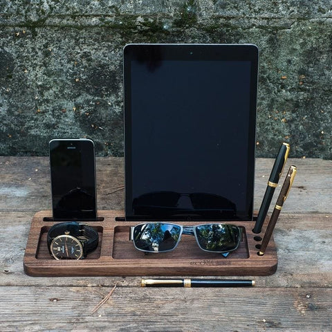 Wood Organizer Stand For Your Tablet And Smartphone - Vasylchenko1
