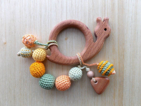 Wood Teether Snail - Toy