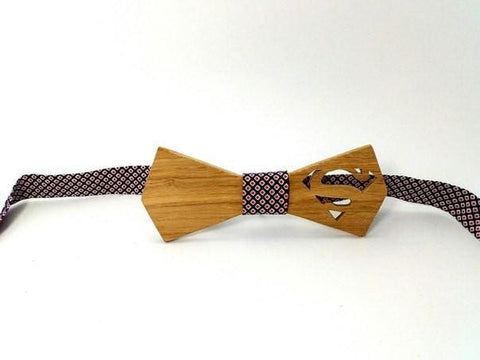 Wooden Bow-Tie Superman - Melnichenko1