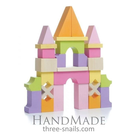 Wooden Construction Castle - Toy