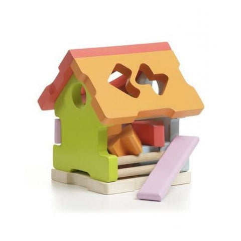 Wooden Construction Small House - Toy