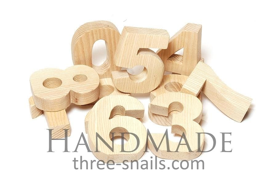 Wooden Digits For Kids Games Think A Minute - Toy
