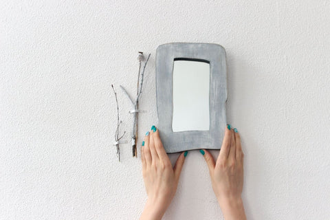 Wooden Mirror For Makeup - Mirror