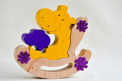 Wooden Toy Hippos - Toy
