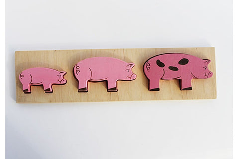 Wooden Toys Pigs - Toy