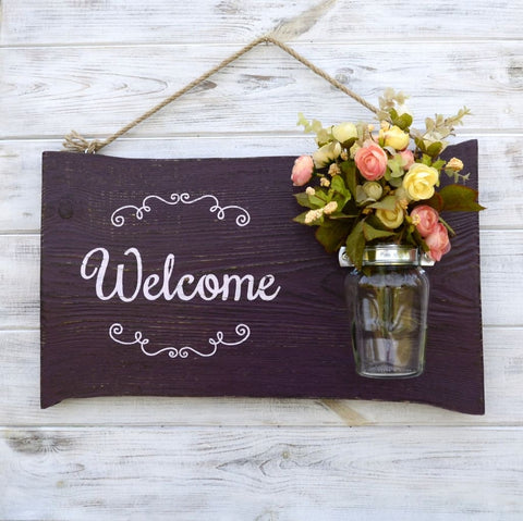 Wooden Welcome Sign Hospitality - Vasylchenko1