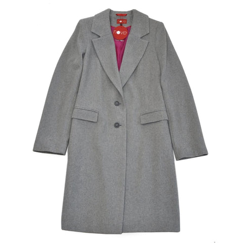 Wool Coat Melange - 34 / Gray / Us - Vasylchenko1