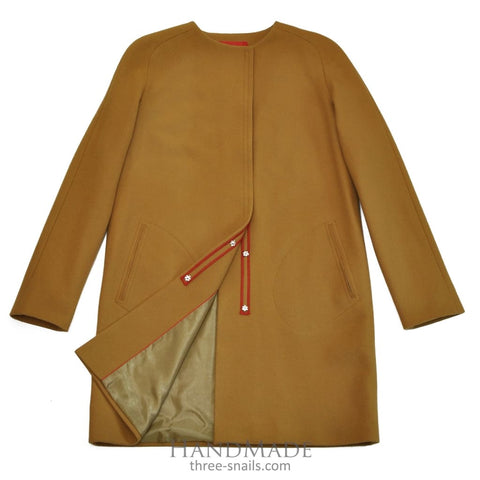 Wool Coat Mustard - 34 / Brown / Us - Vasylchenko1