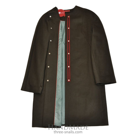 Wool Coat Without Collar Trandy Day - Vasylchenko1