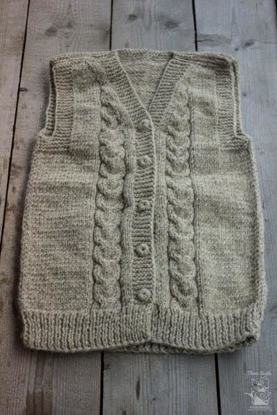 "Wool knitted vest ""Hanna"" - 1"