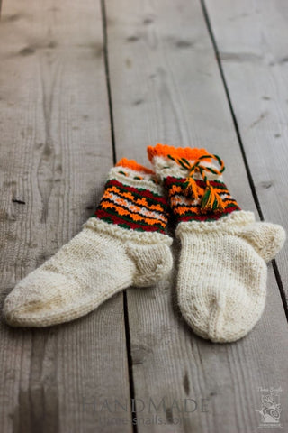 Woolen Knitted Socks Elfes - Baby Clothes