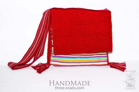 Woven Ethno Bag Red Passion - Melnichenko1