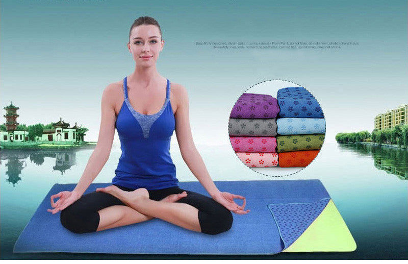 Extra long, Extra thick, Anti Skid, Yoga Towel with a complimentary mesh bag