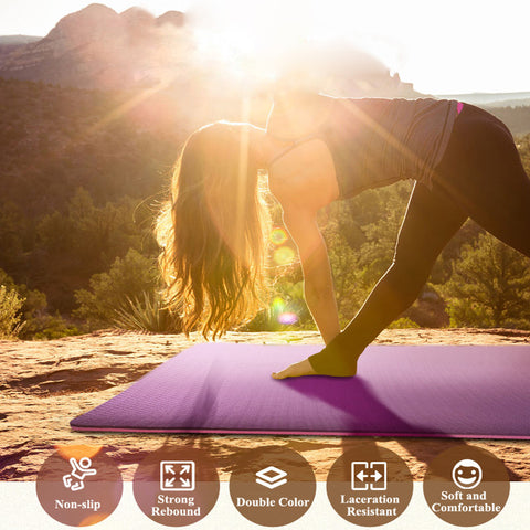 Eco-friendly, 6mm, TPE, Non-slip, two-toned Yoga mat