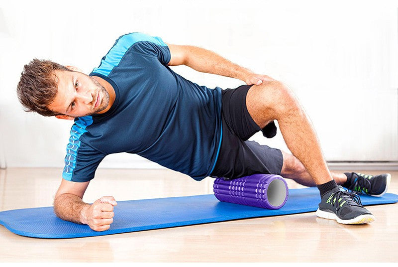 Yoga Foam Roller / Floating Point Fitness Massage Roller (in 7 colors)