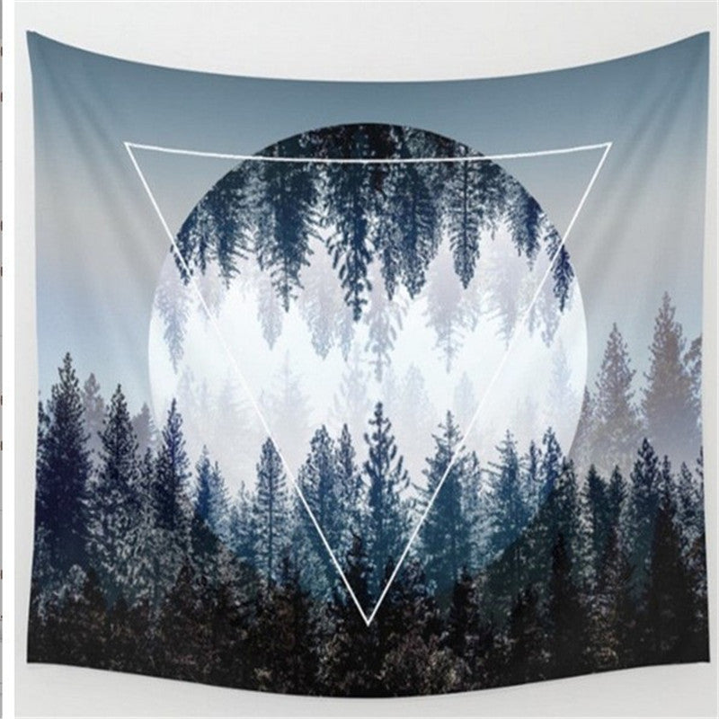 Bohemian Hippie/Natural Woods Sky Printing Wall Hanging Tapestry