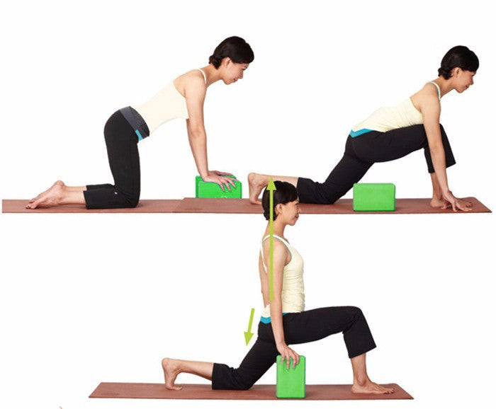 7.5CM Thick, High Density Yoga Blocks for stable, aligned and supported Asanas(23 * 15 * 7.5 Cm)
