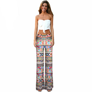 Womens Printed Yoga Pants with  Elastic High Waist, long legs and loose fit