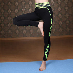 Womens Yoga Pants with Elastic Waist and Polyester Fiber