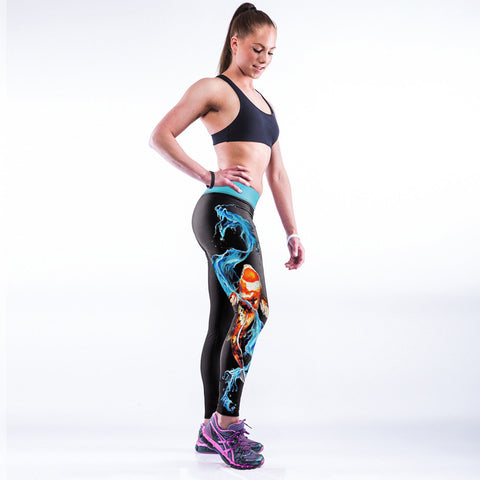 Womens Yoga Pants with 3D printed Dragon Leggings