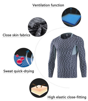 New Quick Dry, Compression, Tight, Long Sleeve Shirt
