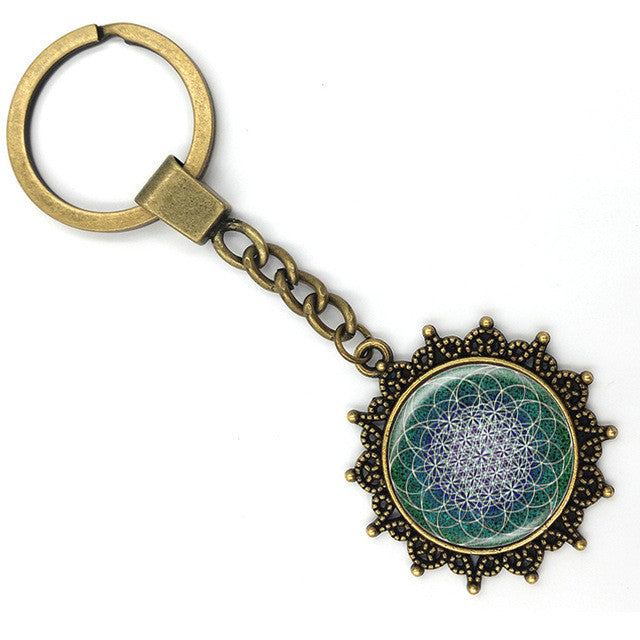 Mandala Lotus Key Ring Yoga Pendant Jewelry -A Dream Catcher Jewelry For Women